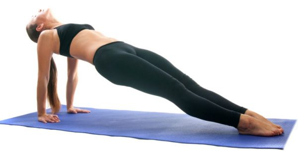 Yoga seria: Purvottanasana is also called   Omgekeerde Plank  is an asana.